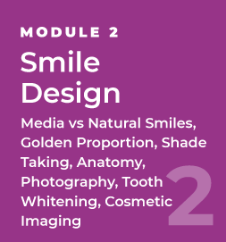 Smile Design - Media vs Natural Smiles, Golden Proportion, Shade Taking, Anatomy, Photography, Tooth Whitening, Cosmetic Imaging