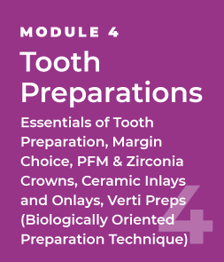 Tooth Preparations - Essentials of Tooth Preparation, Margin Choice, PFM & Zirconia Crowns, Ceramic Inlays and Onlays, Verti Preps (Biologically Oriented Preparation Technique)