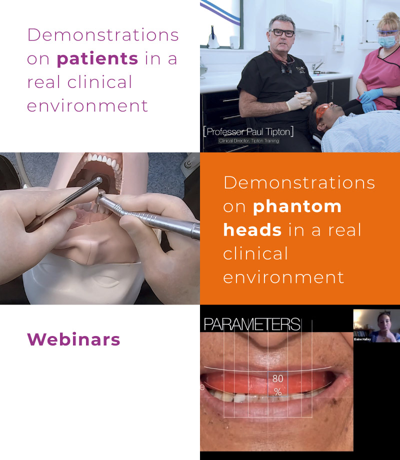 Demonstrations on patients in a real clinical environment, Demonstrations on phantom heads in a real clinical environment, Webinars